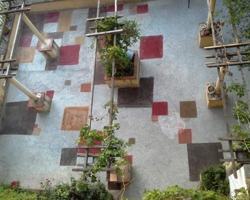 déco terrasse l'hôtel de charme Villa Gaia à Digne les Bains proche de la Fondation David Neel,