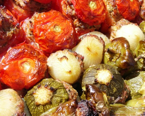 Petits farcis cuisine provençale traditionnelle à la Villa Gaia