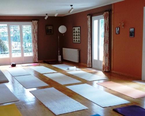 Salle de yoga et gymnastique à la Villa Gaia