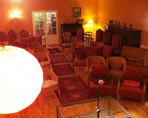 Salle de spectacle, théatre, concerts, musique et lecture à la Villa Gaia