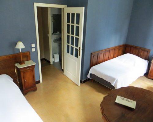 hébergement en chambres doubles ou individuelles pour groupes, stages et séminaires à la Villa Gaia
