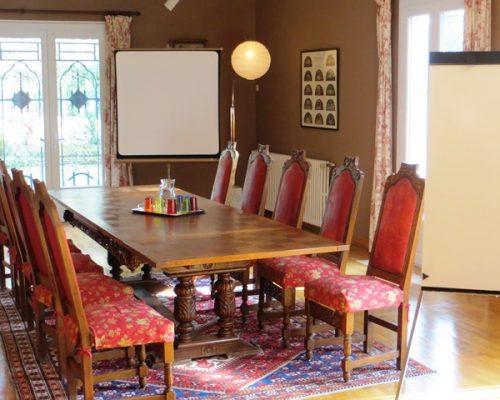 salle de réunion pour séminaires résidentiel de qualité et formations à la Villa Gaia